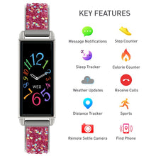 Load image into Gallery viewer, Reflex Active Series 2 Smart Watch with Colour Touch Screen and Pink Glitter Strap