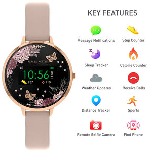 Reflex Active Series 3 Smart Watch with Flower & Butterfly Colour Screen.