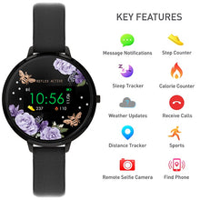 Load image into Gallery viewer, Reflex Active Series 3 Smart Watch with Flower & Bees Colour Screen