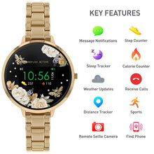 Load image into Gallery viewer, Reflex Active Series 3 Smart Watch with Floral Detail Colour Screen