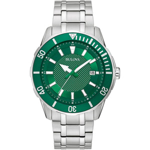 Bulova Stainless Steel Men's Green Dial Watch