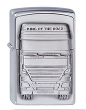 Load image into Gallery viewer, Brushed Chrome, King Of The Road Zippo Lighter