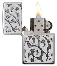 Load image into Gallery viewer, Filigree Polished Chrome Zippo Lighter
