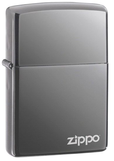 Black Ice Zippo Lighter with Logo
