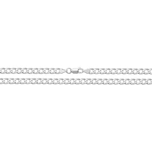 "Sterling Silver Curb 22"" Chain."