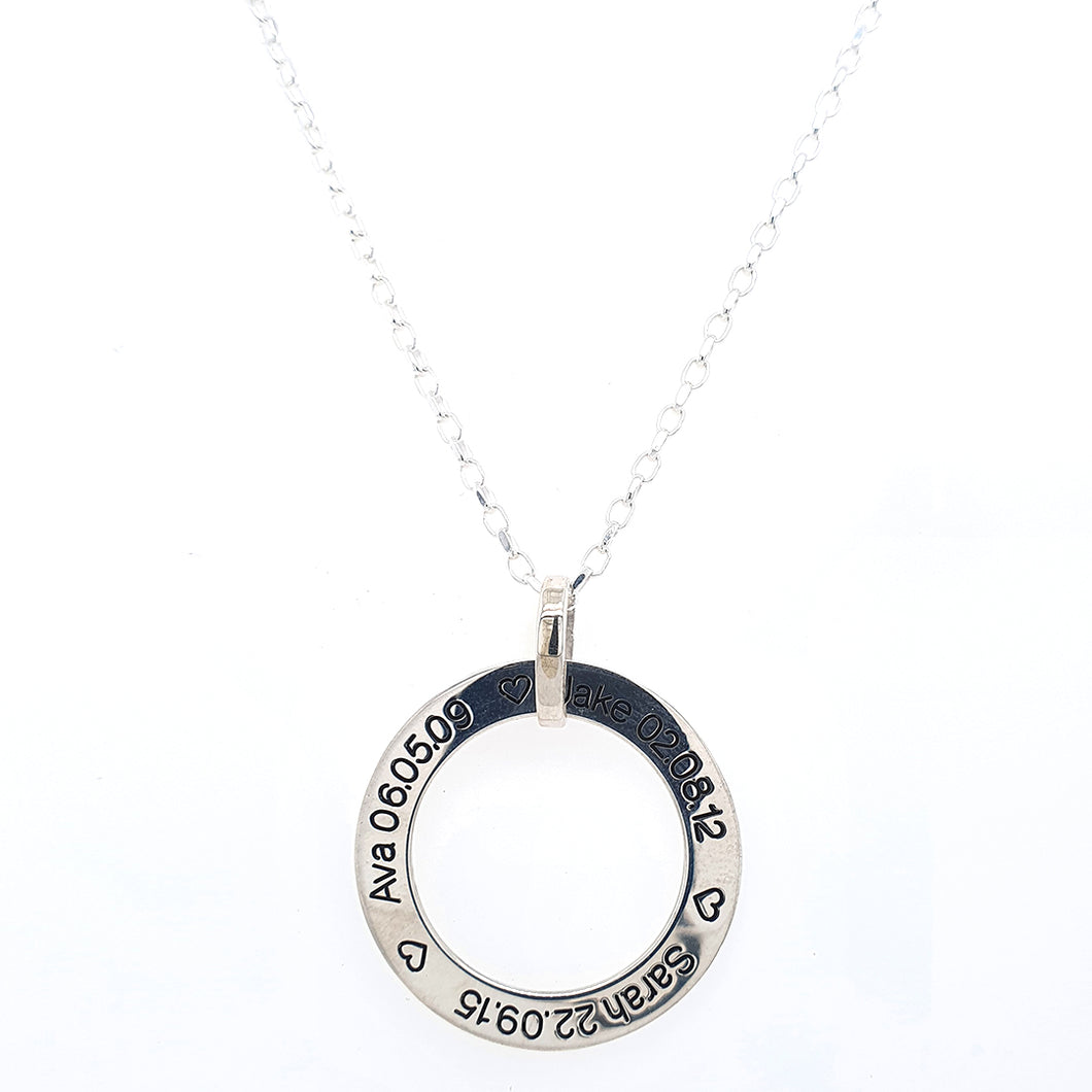 Sterling Silver Single Circle That Can Be Engraved