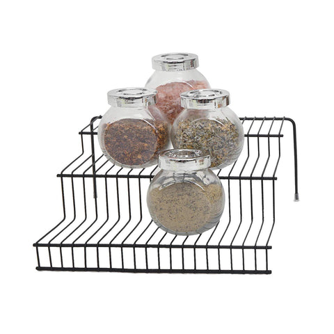 3-Tier Expandable Bamboo Spice Rack Step