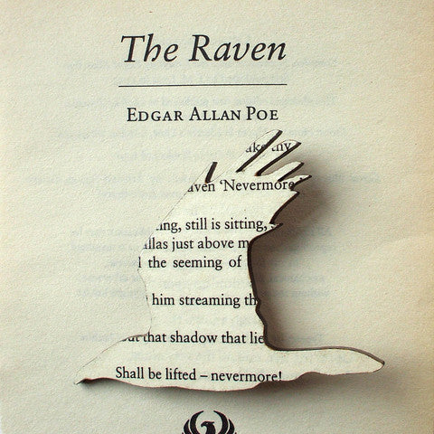 The Raven Edgar Allan Poe Book Brooch