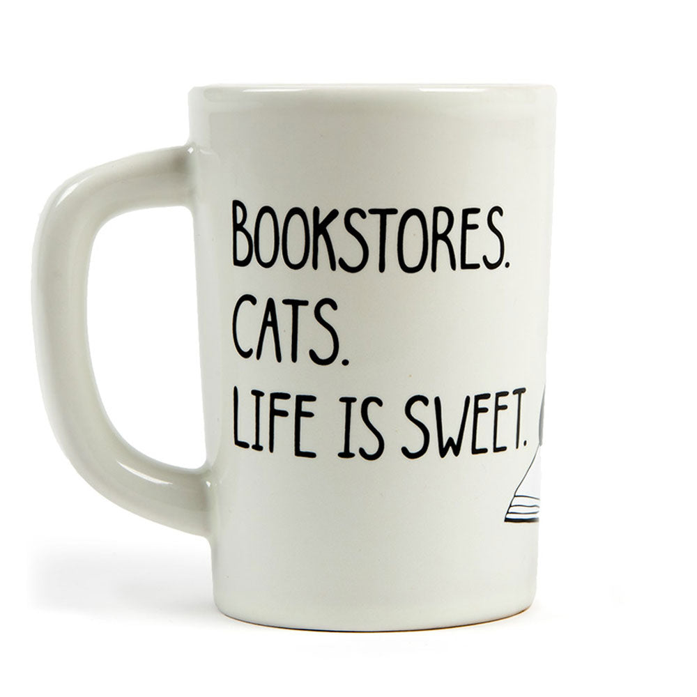 Mug - Bookstores, Cats, Life is Sweet