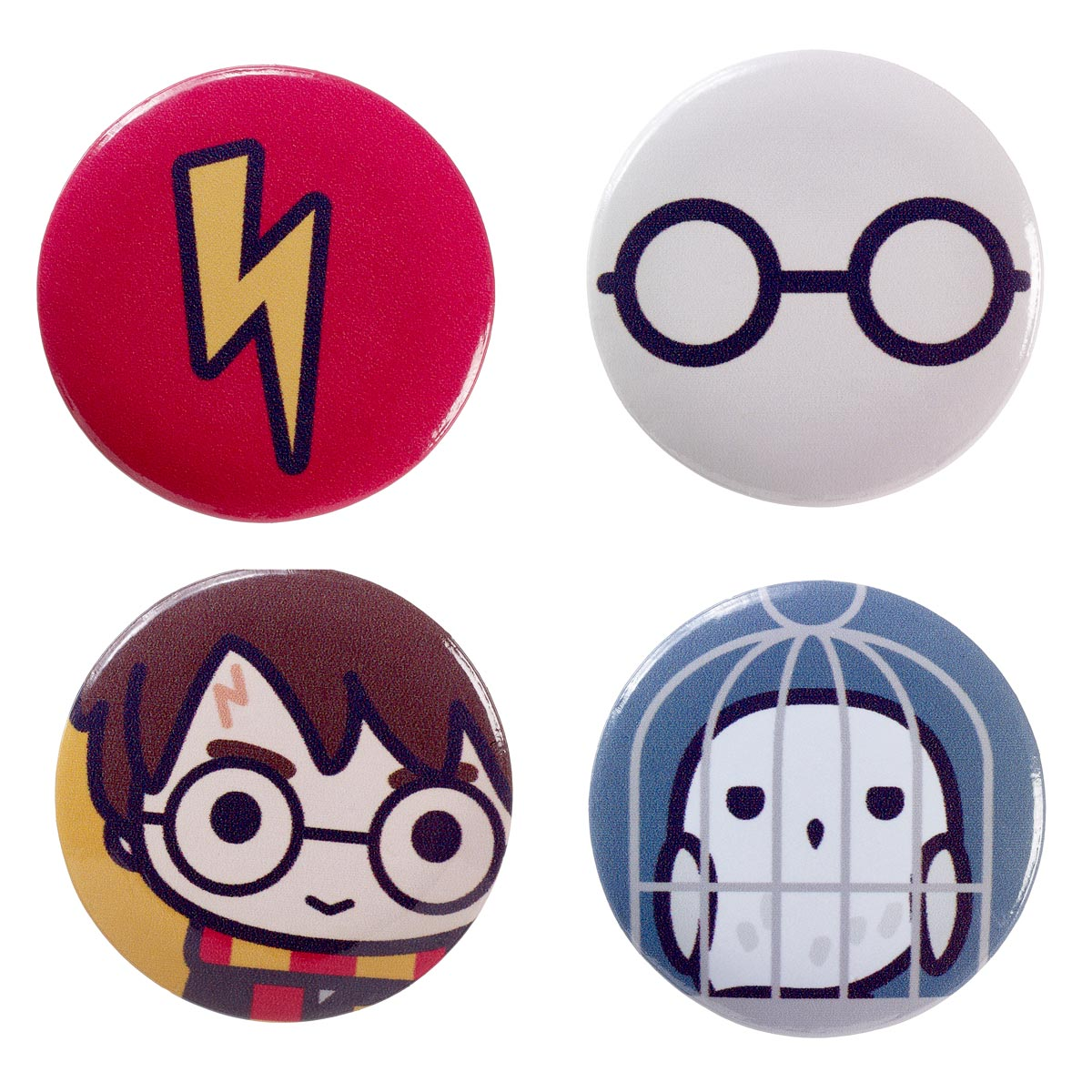 Button Badge Set - Harry Potter Cutie Collection-Jewellery-Book Lover Gifts