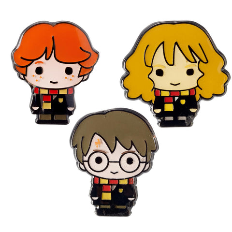 Pin Badge Set - Harry Potter, Hermione and Ron-Jewellery-Book Lover Gifts