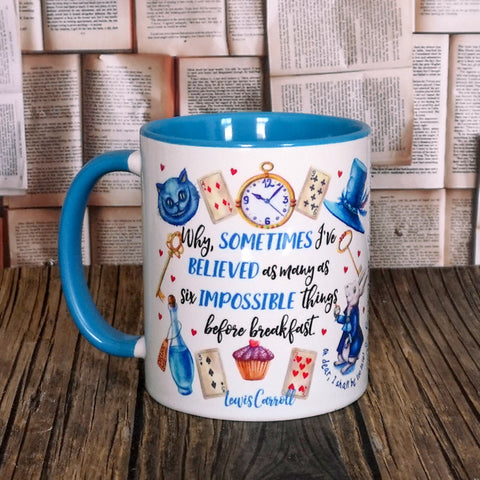 Mug - Alice in Wonderland - Before Breakfast - Blue