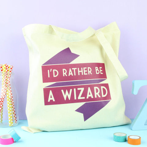 Tote Bag - I'd Rather be a Wizard - Harry Potter / Gandalf