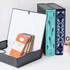 Box Book File - Patterned - Choose Your Colour & Title