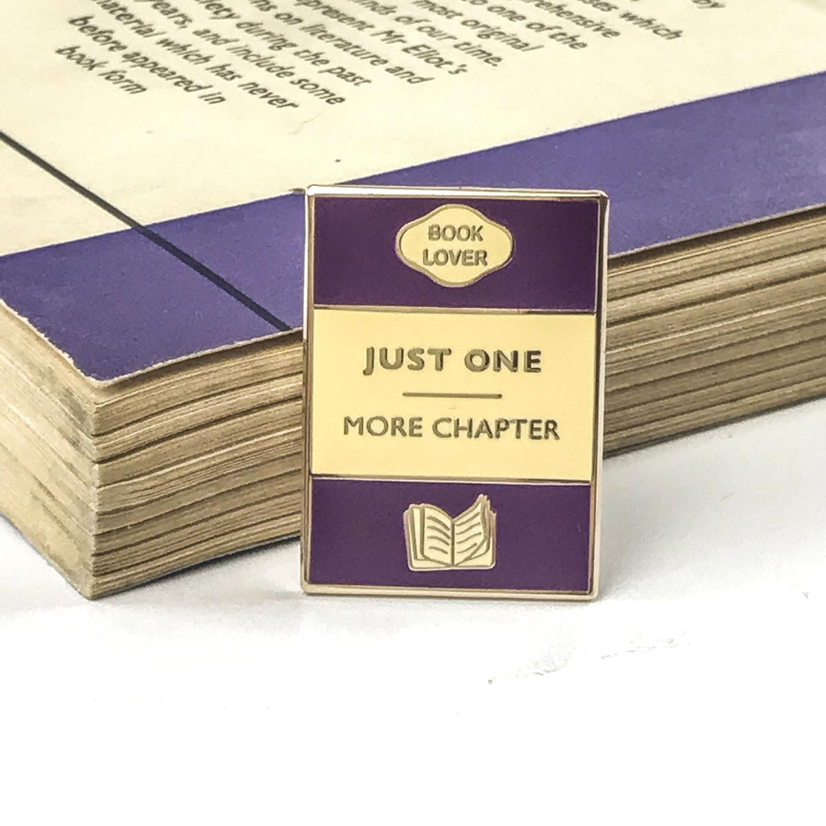 Enamel Pin - Book brooch - Just One More Chapter