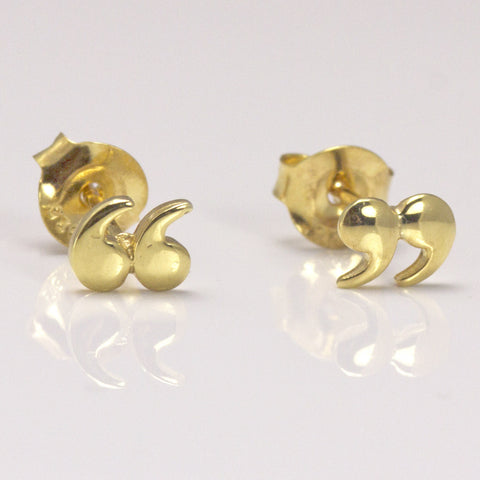Earrings - Quotation / Speech Marks - Gold