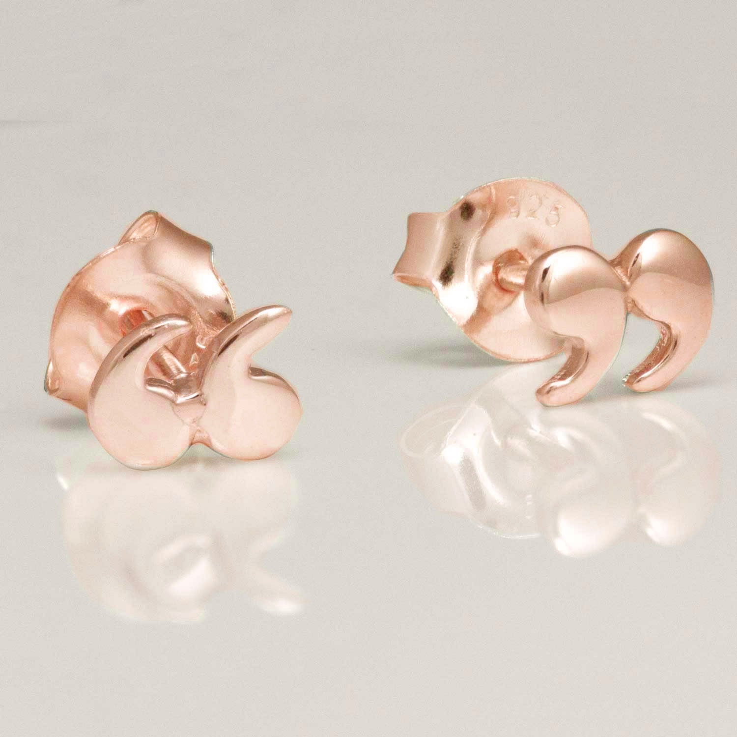 Earrings - Quotation / Speech Marks - Rose Gold