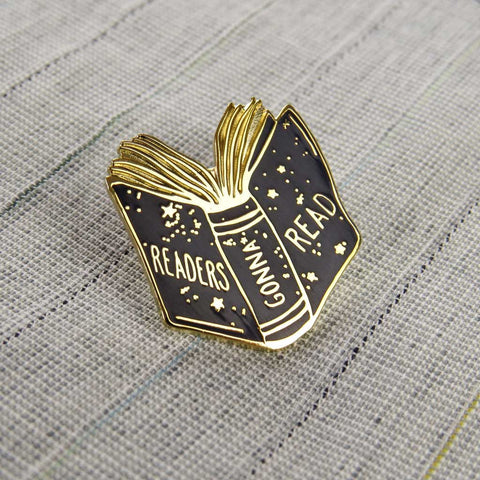 Enamel Pin - Book brooch - Readers Gonna Read-Jewellery-Book Lover Gifts