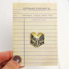 Enamel Pin - Book brooch - Readers Gonna Read