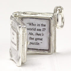 Book Charm Locket / Pendant - Silver - Alice in Wonderland-Jewellery-Book Lover Gifts