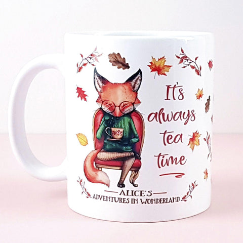 Mug - Fox - Alice in Wonderland - It's Always Tea Time-Mug-Book Lover Gifts