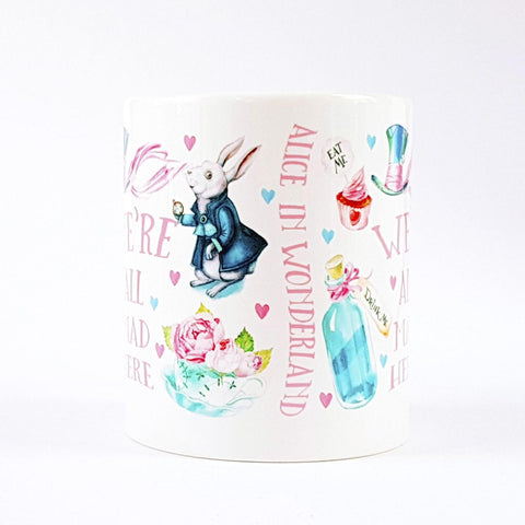 Mug - Alice in Wonderland - We're All Mad Here-Mug-Book Lover Gifts