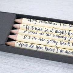 Pencils Set - Alice In Wonderland Quotations - Personalised-Stationery-Book Lover Gifts