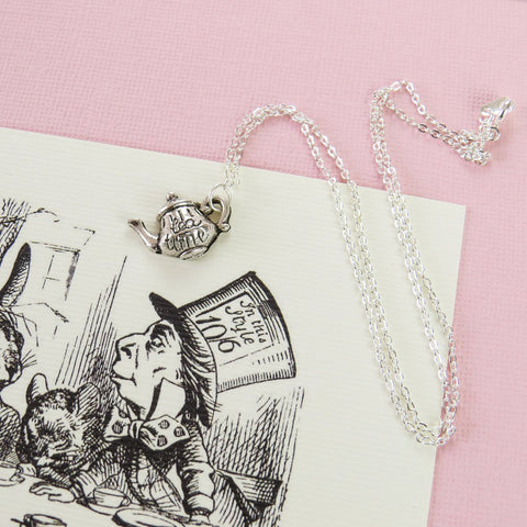 Necklace - Teapot - Alice in Wonderland