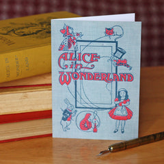 Card - Vintage Book Cover - Alice in Wonderland-Cards-Book Lover Gifts