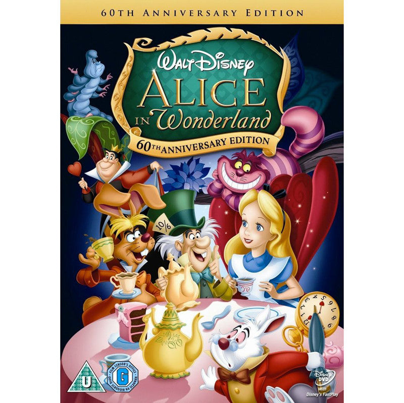 DVD - Alice in Wonderland - Disney - 60th Anniversary Edition-DVD-Book Lover Gifts