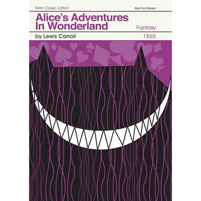 Print - Retro Classic Book Cover - Alice in Wonderland