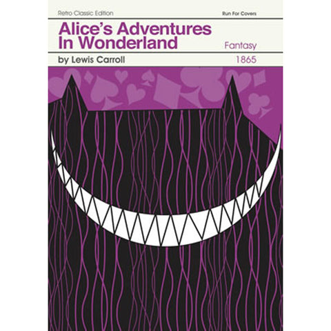 Print - Retro Classic Book Cover - Alice in Wonderland-Print / Poster-Book Lover Gifts