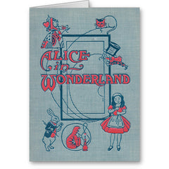 Card - Vintage Book Cover - Alice in Wonderland