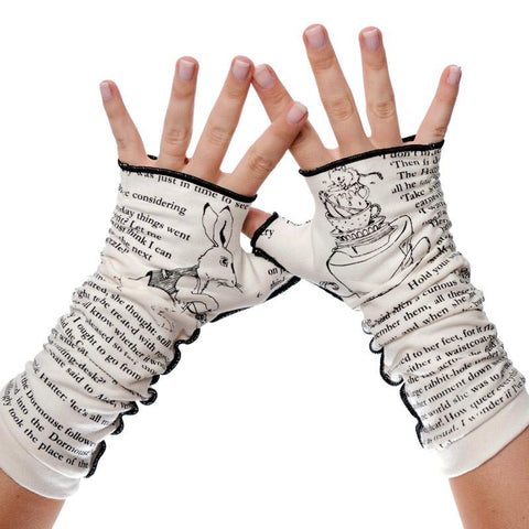 Writing Gloves - Alice in Wonderland