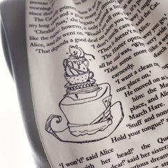 Book Scarf - Alice in Wonderland - Lewis Caroll-Scarf-Book Lover Gifts