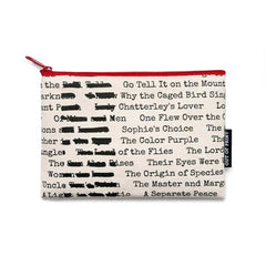 Pouch / Zip Up / Make Up Bag / Pencil Case - Banned Books