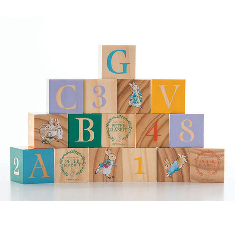 Wooden Building Blocks - Baby - Peter Rabbit