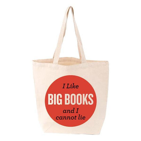 Bag / Tote - I Like Big Books and I Cannot Lie-Bag-Book Lover Gifts