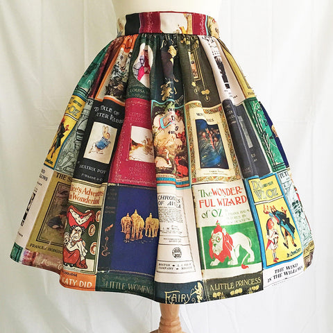 Skirt - Book Print - Classic Children's Stories Covers