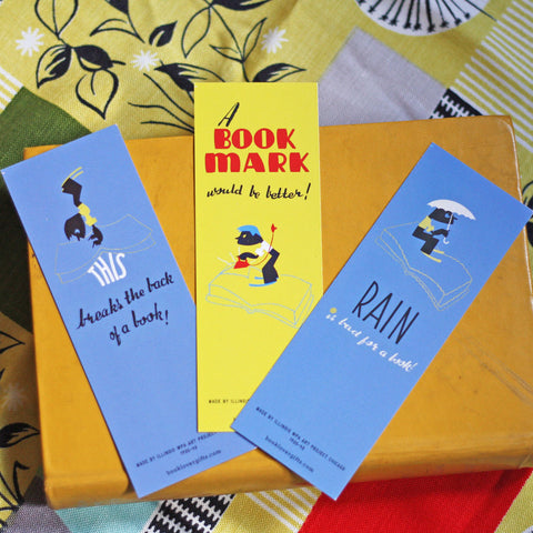 Bookmark Set of 3 - Vintage - A Bookmark Would be Better