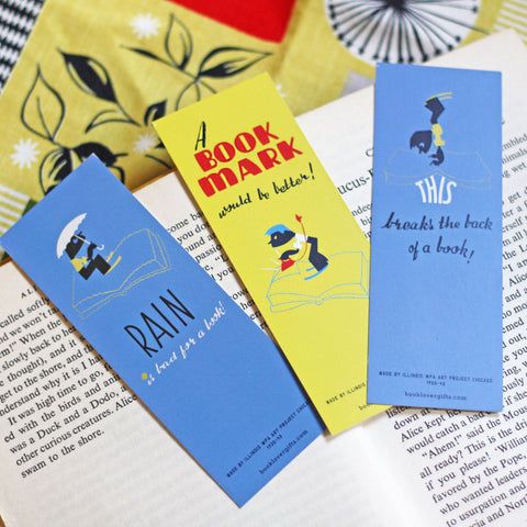 Bookmark Set of 3 - Vintage - A Bookmark Would be Better-Stationery-Book Lover Gifts