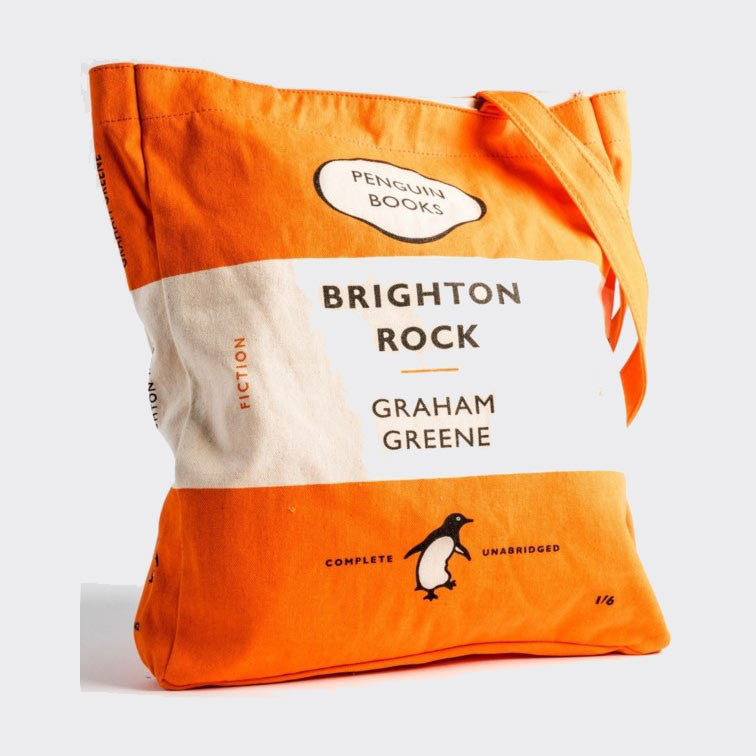 Penguin Book Cover Merchandise ~ Book bag brighton rock penguin lover gifts