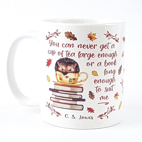 Mug - Hedgehog - C. S. Lewis - Cup Of Tea-Mug-Book Lover Gifts