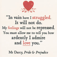 Card - You Must Allow me to Tell You... - Darcy - Jane Austen