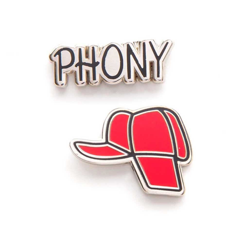 Enamel Pin Badge Set - Catcher in the Rye - Holden's Hat / Phony