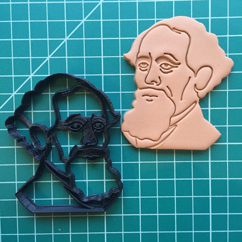 3D Cookie Cutter - Charles Dickens-Book Lover Gifts