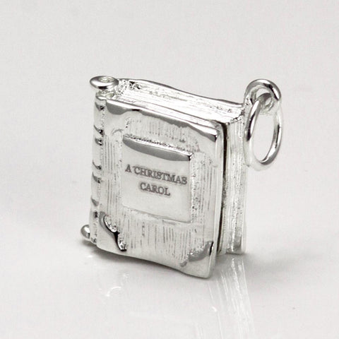 Book Charm Locket / Pendant - Silver - Dickens - A Christmas Carol-Jewellery-Book Lover Gifts