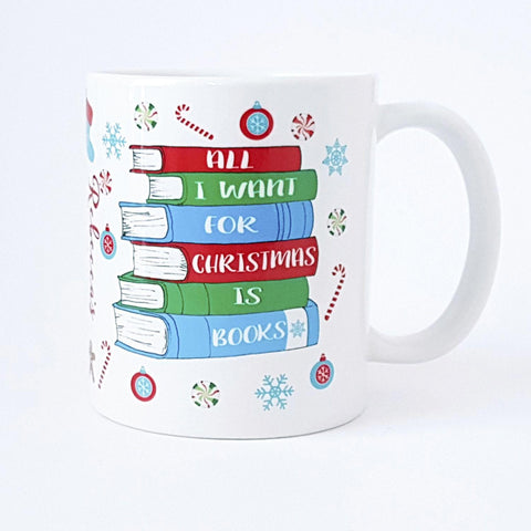 Mug - All I Want For Christmas Is... Books! Personalised-Mug-Book Lover Gifts