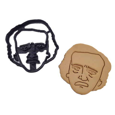 3D Cookie Cutter - Edgar Allan Poe-Book Lover Gifts