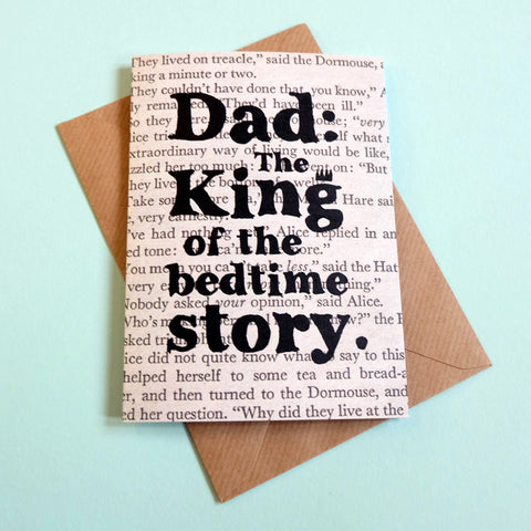 Card - Dad: The King of the Bedtime Story